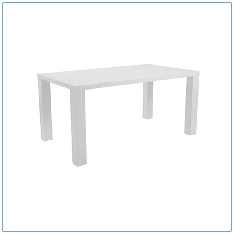 Abby 63in Conference Tables - White - LV Exhibit Rentals in Las Vegas