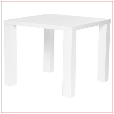 Abby Cafe Table - White - LV Exhibit Rentals in Las Vegas