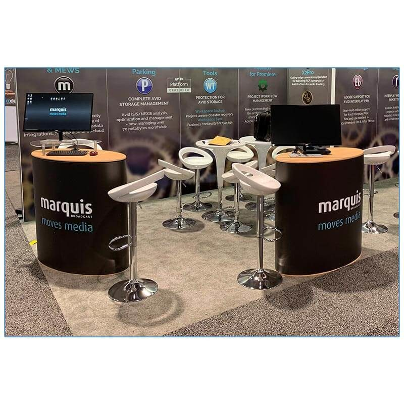 Agnes Adjustable Bar Stools - White - LV Exhibit Rentals in Las Vegas