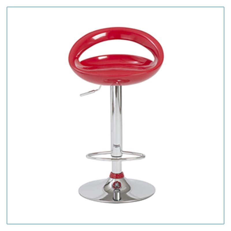 Agnes Bar Stools - Red - Trade Show Furniture Rentals from LV Exhibit Rentals in Las Vegas