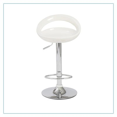 Agnes Bar Stools - White - Trade Show Furniture Rentals from LV Exhibit Rentals in Las Vegas
