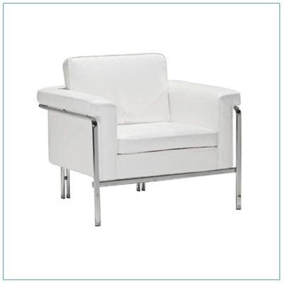 Amanda Lounge Chairs - White - LV Exhibit Rentals in Las Vegas