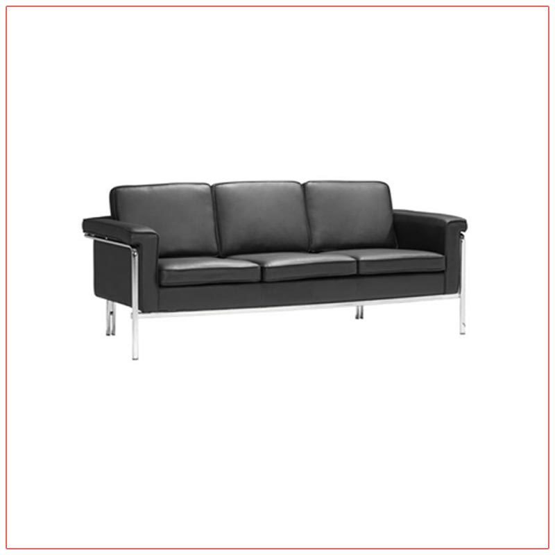 Amanda Sofa - Black - LV Exhibit Rentals in Las Vegas