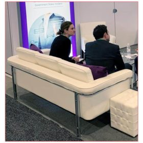 Amanda Sofa - White - AAOS 2019 - LV Exhibit Rentals in Las Vegas