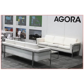 Amanda Sofa - White - Agora - LV Exhibit Rentals in Las Vegas