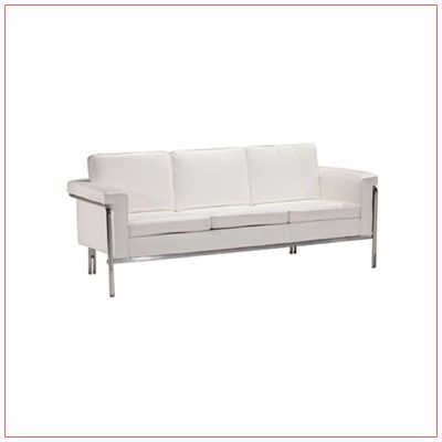 Amanda Sofa - White - LV Exhibit Rentals in Las Vegas