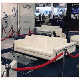 Amanda Sofa in White - LV Exhibit Rentals in Las Vegas