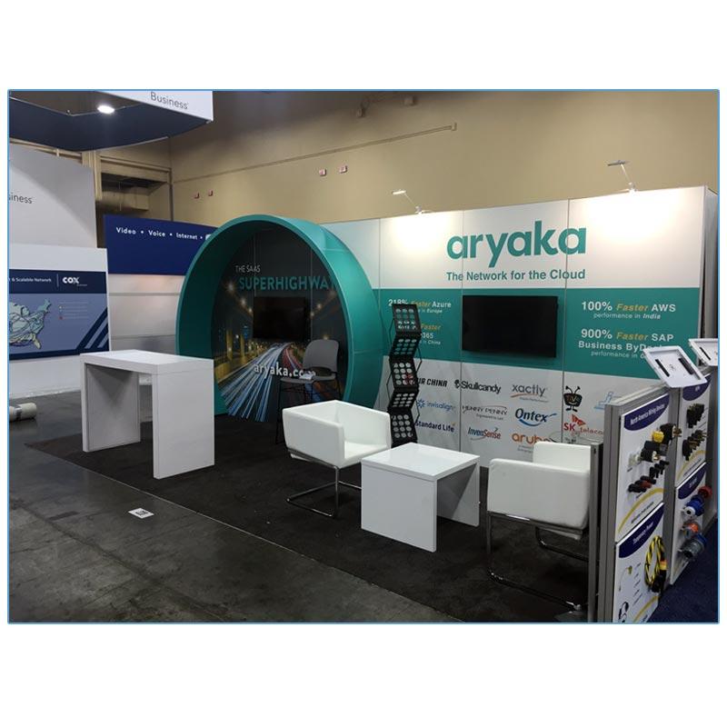Ari Lounge Chairs - White - Aryaka - LV Exhibit Rentals in Las Vegas