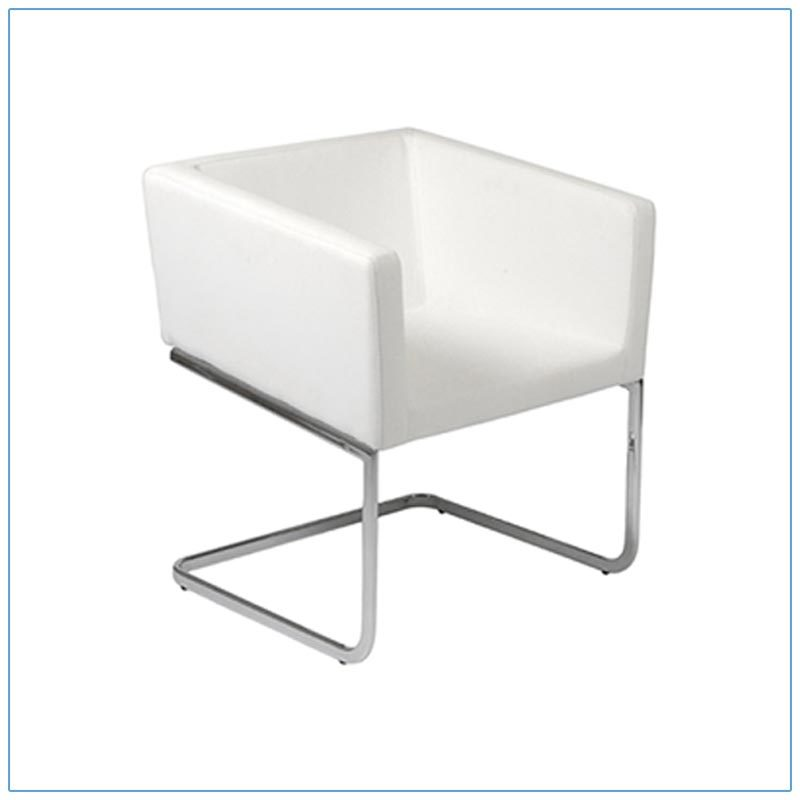 Ari Lounge Chairs - White - LV Exhibit Rentals in Las Vegas