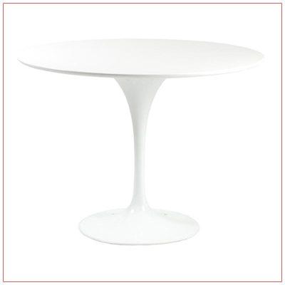 Astrid Cafe Table - White - LV Exhibit Rentals in Las Vegas