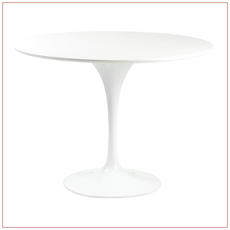 Astrid Cafe Table - White - LV Exhibit Rentals in Las Vegas