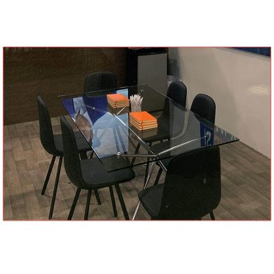 Atos 60in Cafe Table - Rectangle - LV Exhibit Rentals in Las Vegas
