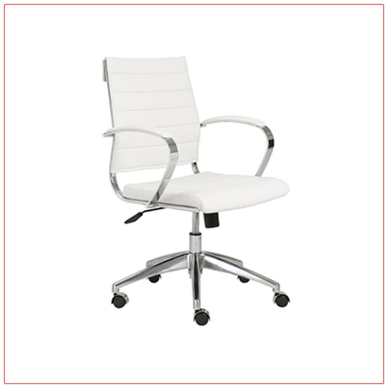 Axel Office Chairs - White - LV Exhibit Rentals in Las Vegas