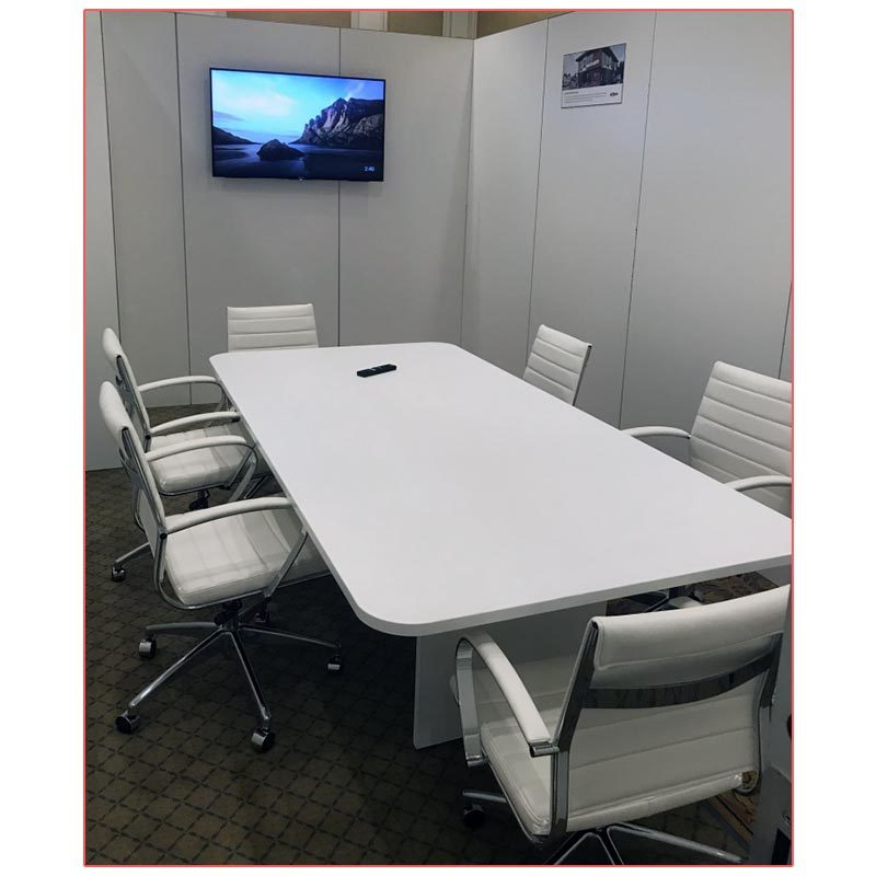 Axel Office Chairs in White - LV Exhibit Rentals in Las Vegas