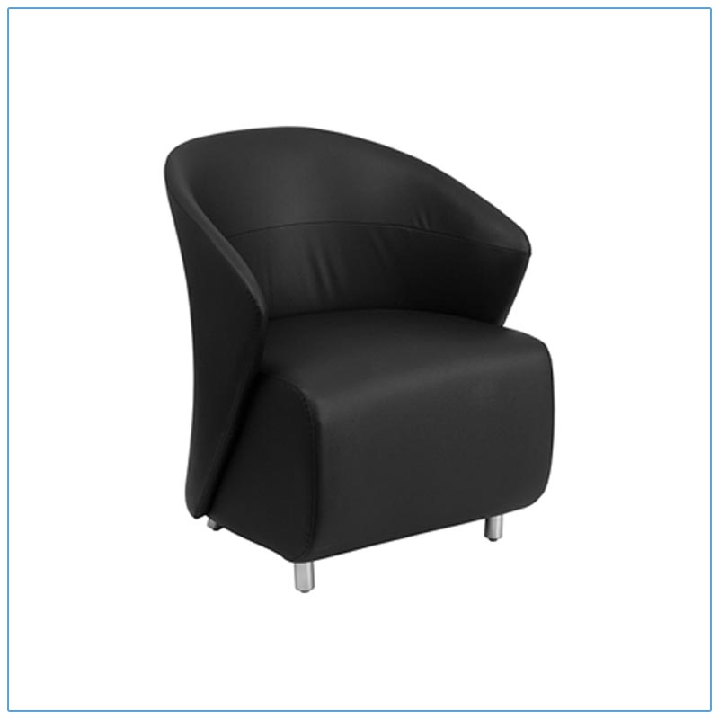 Barrel Lounge Chairs - Black - LV Exhibit Rentals in Las Vegas