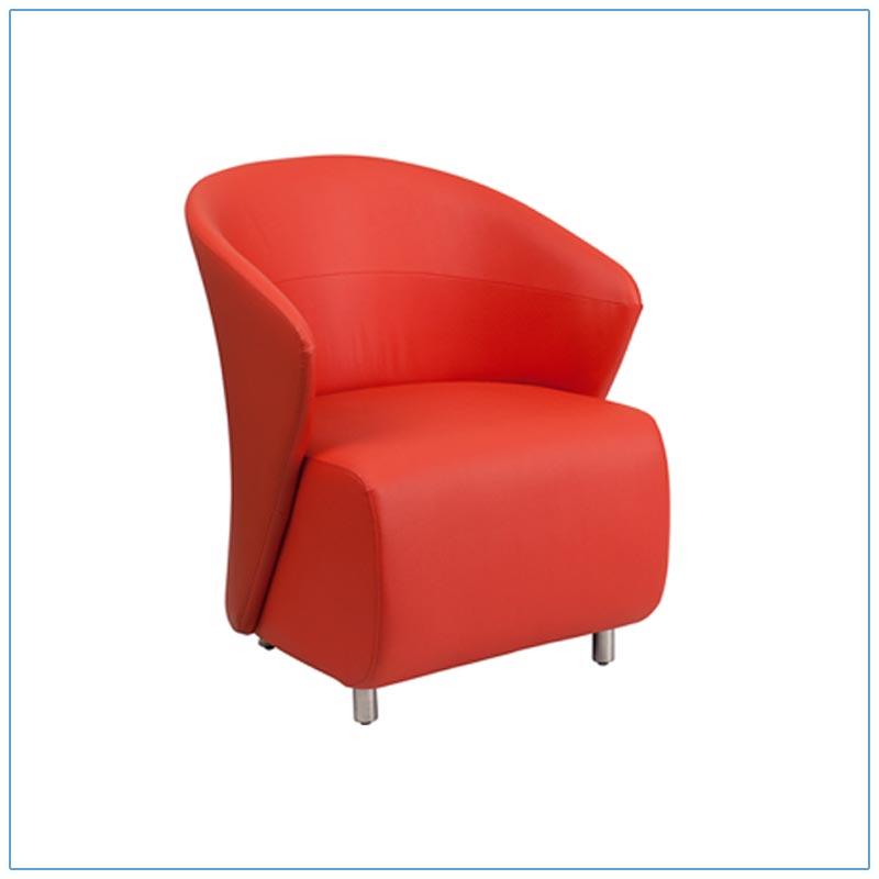 Barrel Lounge Chairs - Red - LV Exhibit Rentals in Las Vegas