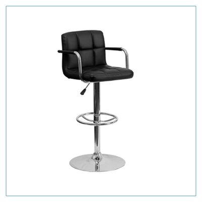 Bella Bar Stools - Black - Trade Show Furniture Rentals from LV Exhibit Rentals in Las Vegas