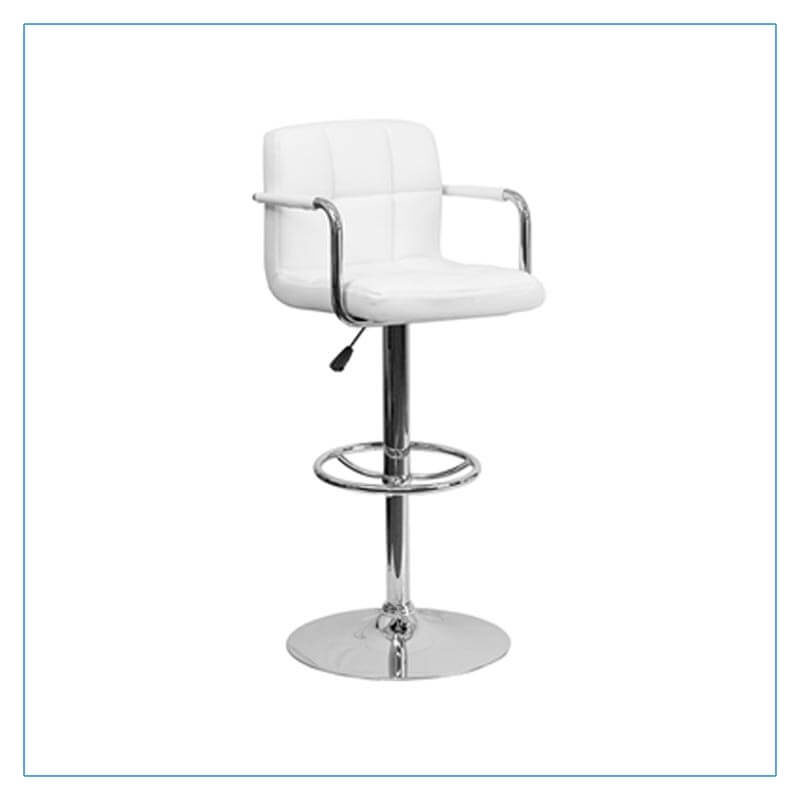 Bella Bar Stools - White - Trade Show Furniture Rentals from LV Exhibit Rentals in Las Vegas
