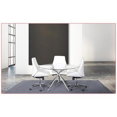 Bergen Office Chairs - White - LV Exhibit Rentals in Las Vegas