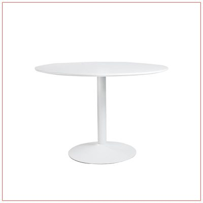 Calloway Cafe Table - White - LV Exhibit Rentals in Las Vegas
