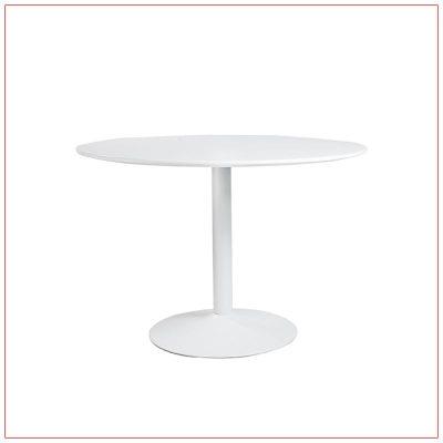 Calloway Cafe Table - White - LV Exhibit Rentals in Las Vegas
