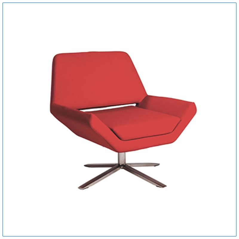 Carlotta Lounge Chairs - Red - LV Exhibit Rentals in Las Vegas