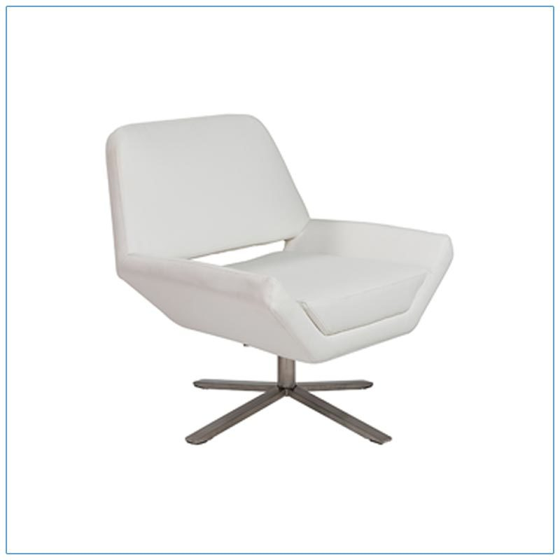 Carlotta Lounge Chairs - White - LV Exhibit Rentals in Las Vegas