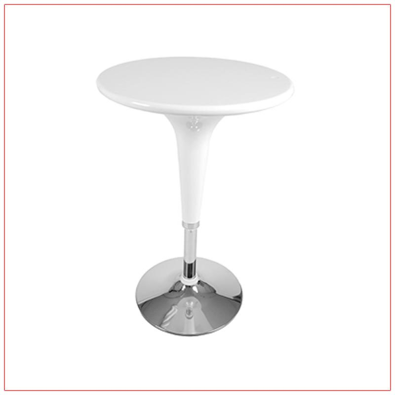 Clyde Bar Table - White - LV Exhibit Rentals in Las Vegas