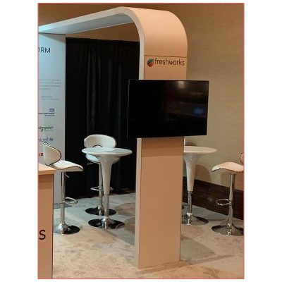 Clyde Bar Tables - White - LV Exhibit Rentals in Las Vegas