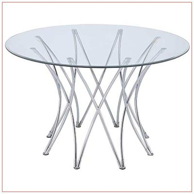 Crown Cafe Table - Glass Top - LV Exhibit Rentals in Las Vegas