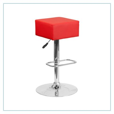 Cube Bar Stools - Red - Trade Show Furniture Rentals from LV Exhibit Rentals in Las Vegas