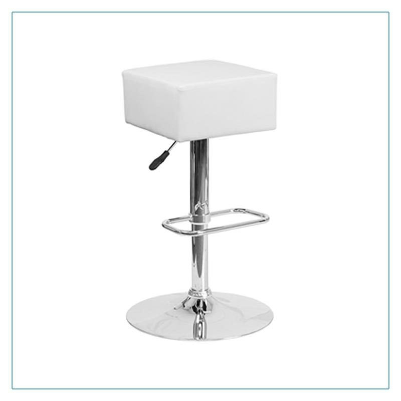 Cube Bar Stools - White - Trade Show Furniture Rentals from LV Exhibit Rentals in Las Vegas