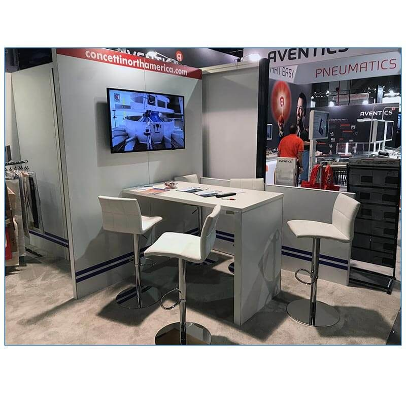 Cyd Adjustable Bar Stools - White - LV Exhibit Rentals in Las Vegas