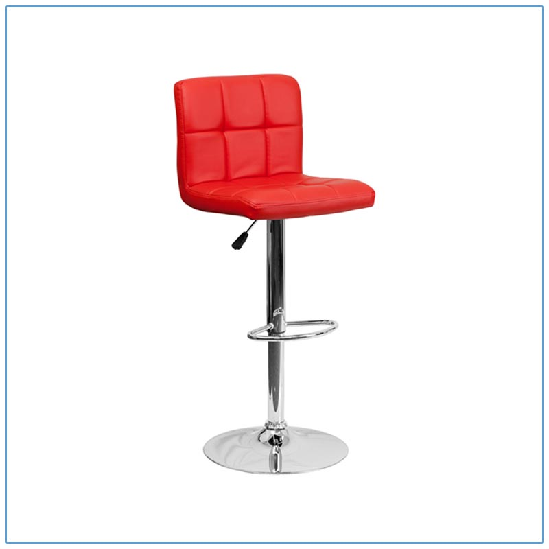 Cyd Bar Stools - Red - Trade Show Furniture Rentals from LV Exhibit Rentals in Las Vegas
