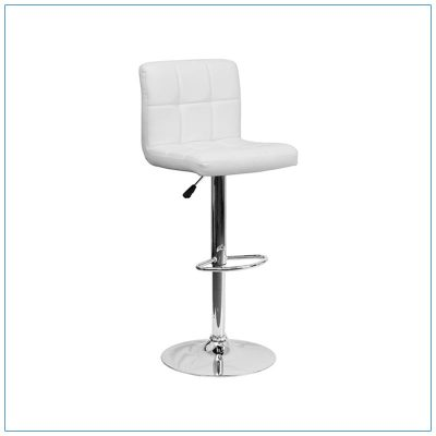 Cyd Bar Stools - White - Trade Show Furniture Rentals from LV Exhibit Rentals in Las Vegas