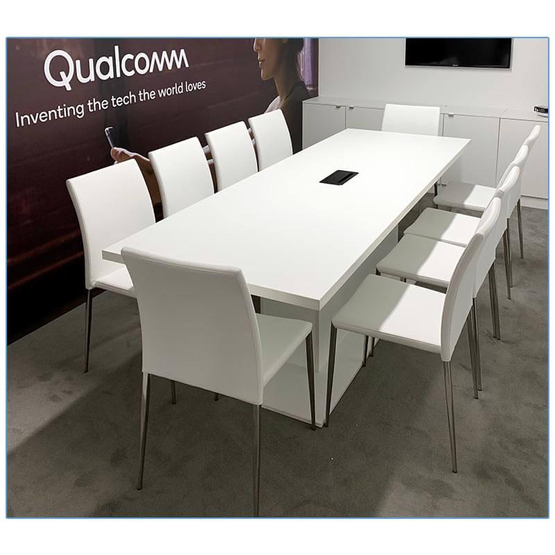 Diana Chairs - Qualcomm CES 2019 - LV Exhibit Rentals in Las Vegas