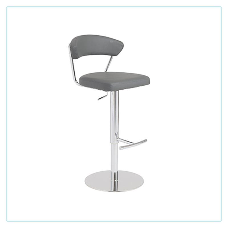 Draco Adjustable Bar Stools - Gray - Trade Show Furniture Rentals from LV Exhibit Rentals in Las Vegas