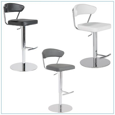 Draco Adjustable Bar Stools - Trade Show Furniture Rentals from LV Exhibit Rentals in Las Vegas