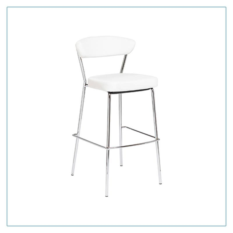 Draco Bar Stools - White - Trade Show Furniture Rentals from LV Exhibit Rentals in Las Vegas