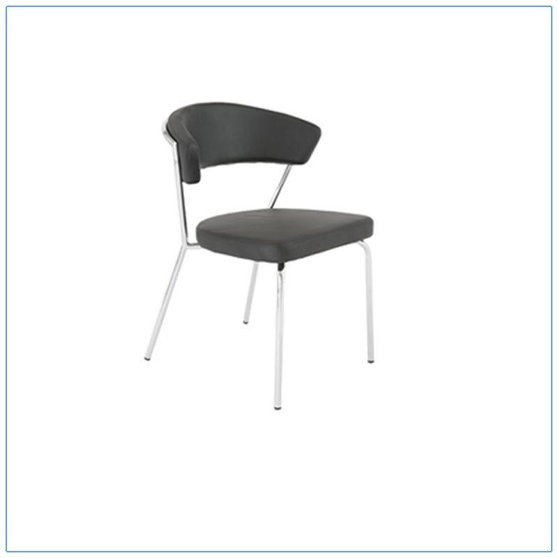 Draco Chairs - Black with Steel Frame - LV Exhibit Rentals in Las Vegas