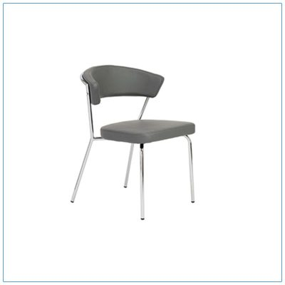 Draco Chairs - Gray with Steel Frame - LV Exhibit Rentals in Las Vegas