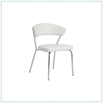 Draco Chairs - White with Steel Frame - LV Exhibit Rentals in Las Vegas