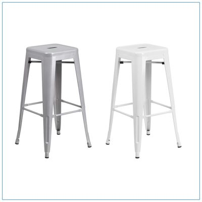 Eli Backless Bar Stools - Trade Show Furniture Rentals from LV Exhibit Rentals in Las Vegas