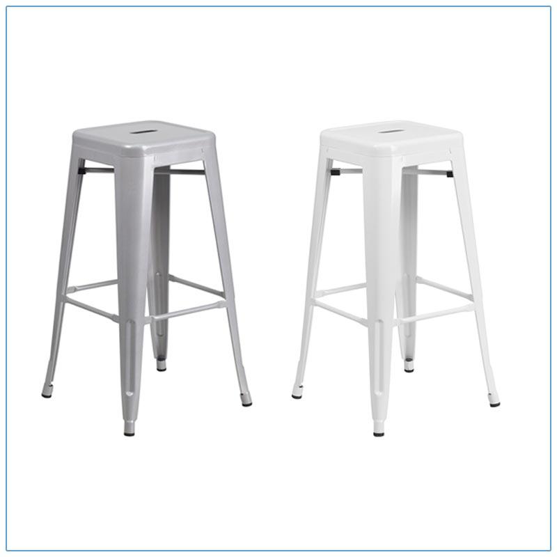 Eli Backless Bar Stools - Trade Show Furniture Rentals from LV Exhibit Rentals in Las Vegas