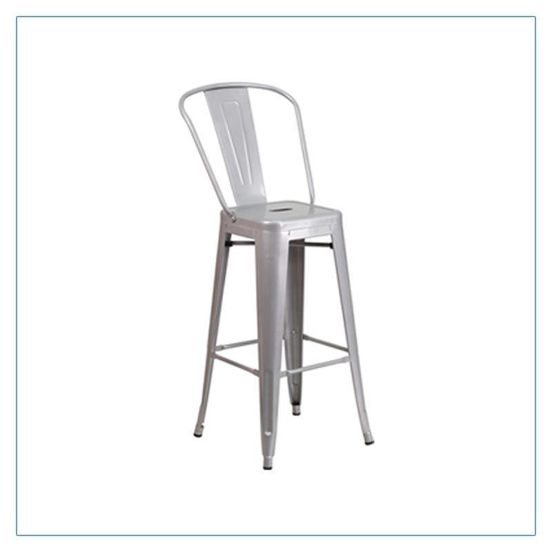 Eli Bar Stools - Silver - Trade Show Furniture Rentals from LV Exhibit Rentals in Las Vegas
