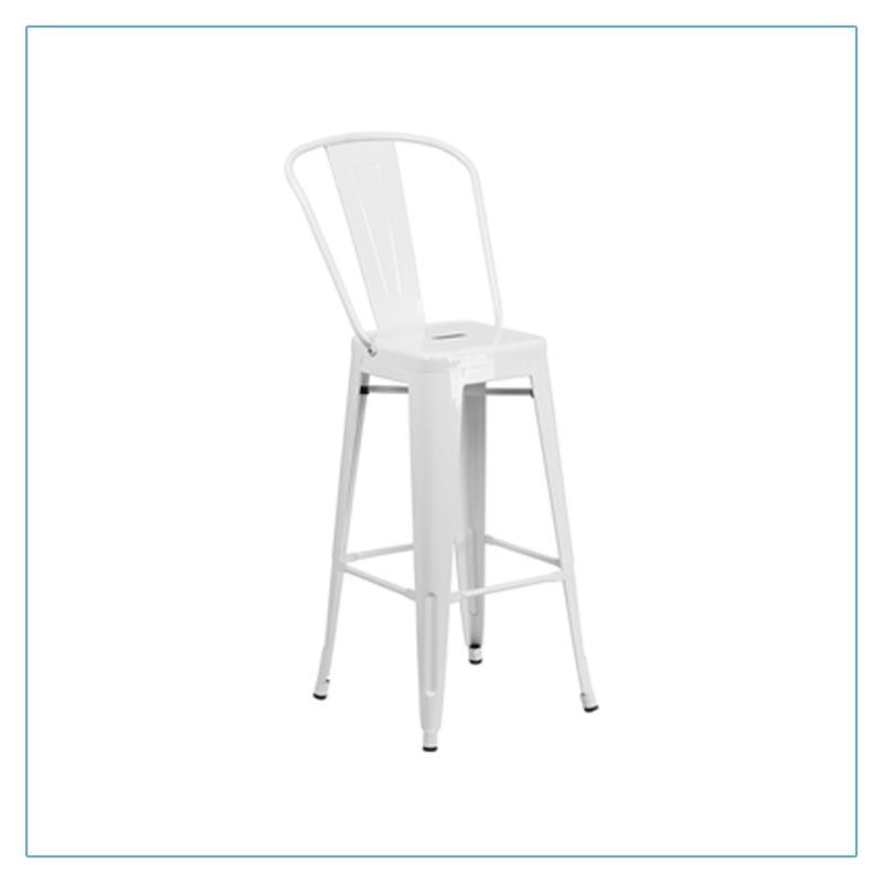 Eli Bar Stools - White - Trade Show Furniture Rentals from LV Exhibit Rentals in Las Vegas