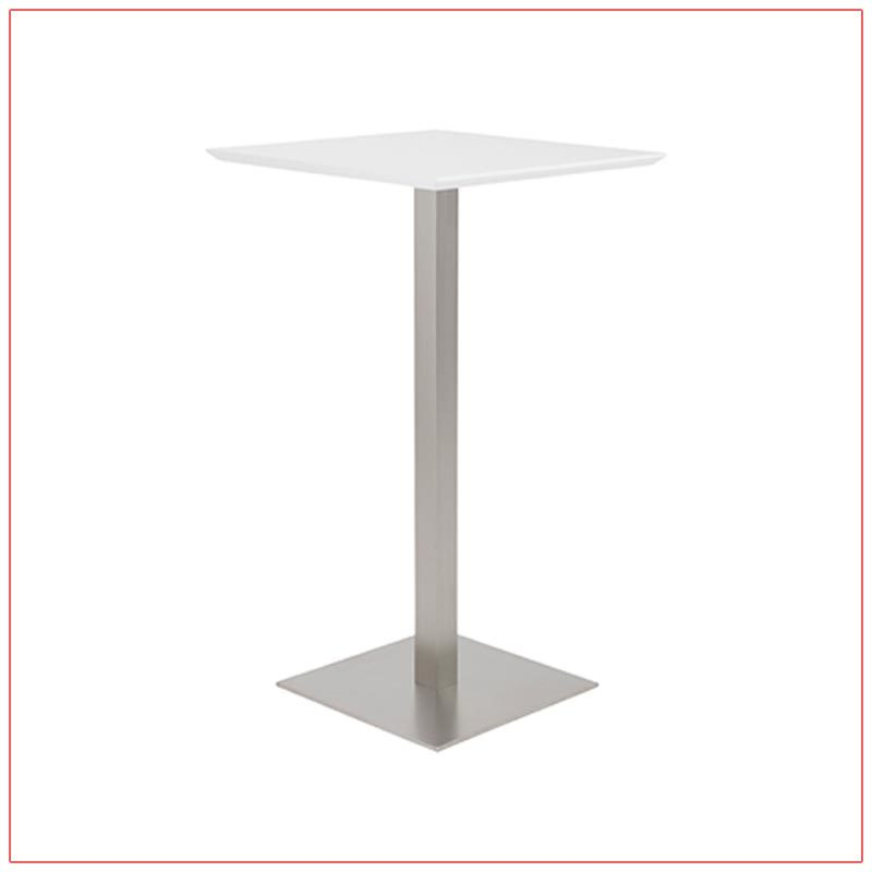 Elodie Bar Table - White - LV Exhibit Rentals in Las Vegas
