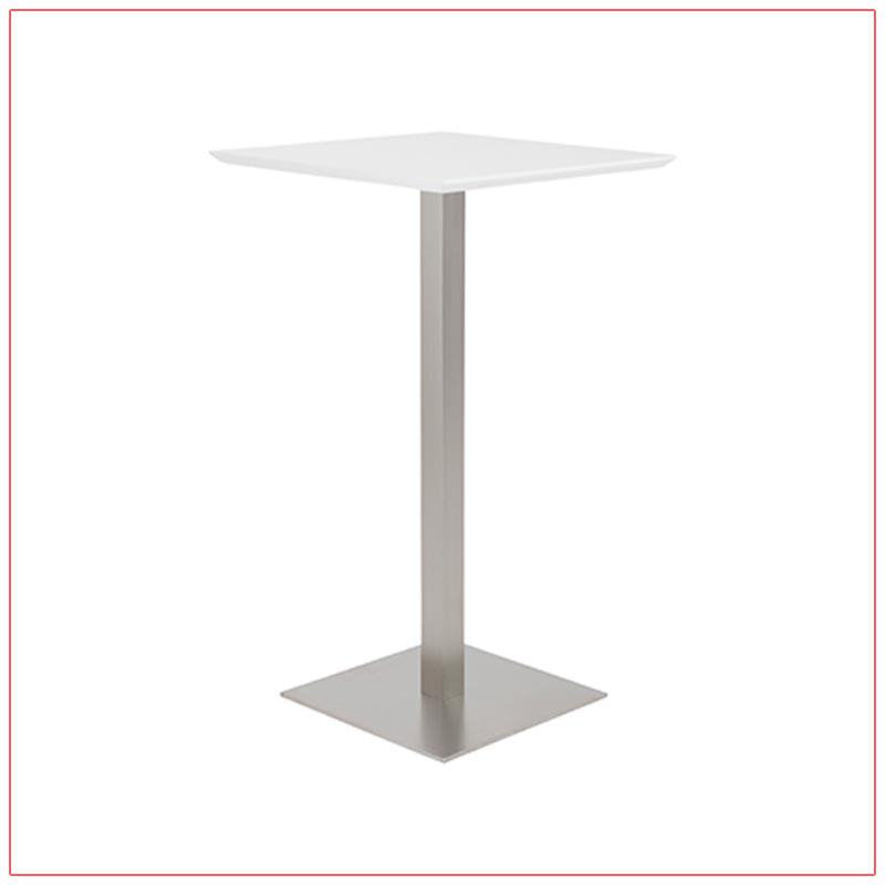 Elodie Bar Table - White - LV Exhibit Rentals in Las Vegas