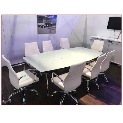 Fenella Office Chairs - White - LV Exhibit Rentals in Las Vegas