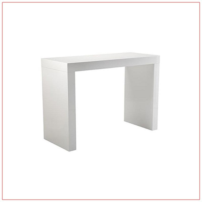 Format Bar Table - White - LV Exhibit Rentals in Las Vegas